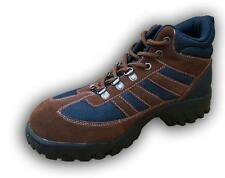 Walklander Flexible Safety Trainers Lace Up with Steel Toe Caps in Brown Size 8