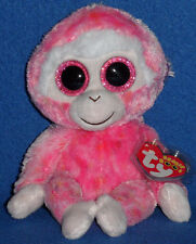 "TY BEANIE BOOS BOO'S - RUBY the 6"" MONKEY - MINT with NEAR PERFECT TAG"