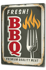 Tin Sign XXL Kitchen fresh BBQ metal plate plaque
