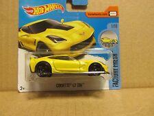 Hot wheels 2017 128/365 factory fresh 1/10 corvette C7 Z06 neuf sur carte