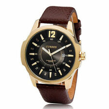 [Wholesale] CURREN 8123 Men's Round Dial Analog Quartz Watch - Black Gold