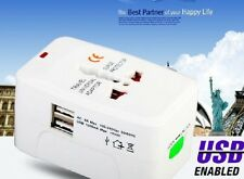 2 USB All-in-One International Travel Power Universal Charger Adapter Plug UK/EU