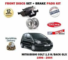 FOR MITSUBISHI COLT 1.3i GLX 1996-9/2004 FRONT BRAKE DISCS SET + DISC PADS KIT