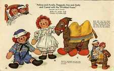 Raggedy Ann Andy Camel Stuffed toy PATTERN 1940s WWII era Reproduction 914