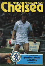 1981/82 Chelsea v Hartlepool United or Hull City, FA Cup, PERFECT CONDITION