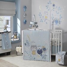 Lambs & Ivy Happi Night Owl Dena 6 Piece Baby Crib Bedding Set w/ Bumper Mobile