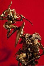Sideshow Warcraft Faux Bronze Diorama Blood Elf Rogue vs Dranei Paladin Statue