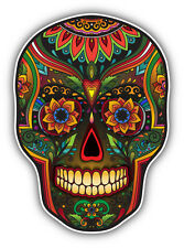 "Skull Mexican Pattern Car Bumper Sticker Decal 4"" x 5"""