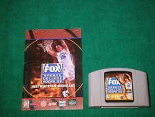 NINTENDO N64 FOX SPORTS COLLEGE HOOPS '99 VIDEO GAME WITH MANUAL INCLUDED