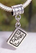 Tarot Card Deck Reading Games Dangle Bead fits Silver European Charm Bracelets