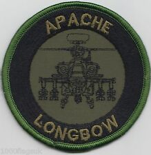 US Army Apache Longbow Helicopter Embroidered Badge Patch