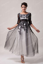 PLUS 20W+ Mother Of The Bride/Groom Dress Wedding Party Evening Dress TEA Length