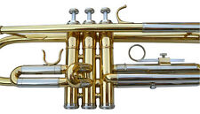 NEW GOLD/SILVER  BAND TRUMPET W/.5 YEARS WARRANTY.
