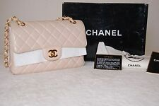 100% Authentic Chanel Calfskin Timeless Classic Double-sided Flap Light Peach