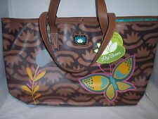 Lily Bloom Butterfly Critter Large Tote, Blue Interior