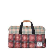 Herschel Supply Co Lonsdale Duffel Bag in Rust Plaid Polka Dot NWT
