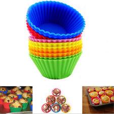 12 x Muffin Förmchen Muffinform Back-Förmchen Silikon Cup Cake Kuchen 1 set Neu
