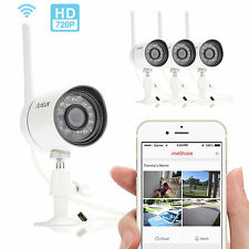 Funlux 4 Outdoor HD Wireless 720P IP Home Security Surveillance Camera System