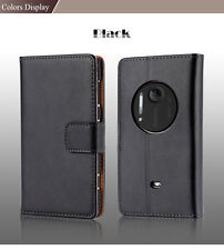 Vintage women men luxury genuine leather case for nokia lumia 1020 flip cover