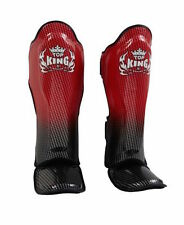 """TOP KING PROFESSIONAL SHIN GUARD """"SUPER STAR""""-GEINUINE LEATHER-TKSGSS-01-RED"""
