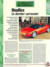 Heuliez Carrossier France Limousine 604 HLZ / Citroên CX  Car Auto FICHE FRANCE