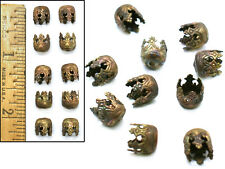 8mm Vintage Czech 1920's Brass Filigree Game of Thrones Cathedral Bead Caps 10p