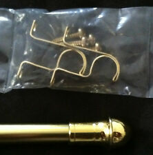 "Brass Cafe Curtain Rod!!  48-84"" Adjustable!! Hardware Included!!"
