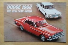 DODGE Dart & Lancer orig 1962 USA Mkt sales brochure - 170 770 330 440