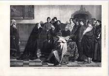 1872 Mary Of Burgundy Entreating Sheriffs To Pardon Councillors Wauters