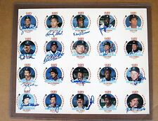 1984 World Series Detroit Tigers sheet signed by 17: Morris, Gibson, Trammell,