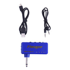 Flanger F1 Portable Mini Headphone Guitar Amp Bass Amplifier USB Charge Cable