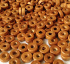 500 RUSTY BROWN COLOUR ROUND FLAT SHAPE WOOD BEADS 8 mm = W0020