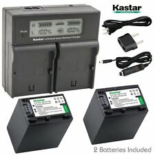 LCD Dual Fast Charger & 2 x Battery for Sony NP-FV100 FH100 DCR HXR FDR HDR NEX