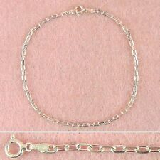 Sterling Silver - 10 inch Cable Anklet (AK065)
