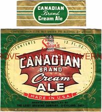Scarce 1940s Stein's Canadian Buffal NY Ale Label Tavern Trove