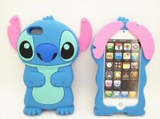 Cover CUSTODIA per IPHONE 5 5S Silicone 3D LILO&STITCH STICH/ Silicon Case 3d