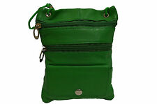 PASSPORT MONEY TRAVEL NECK POUCH NEW DARK GREEN  VERY SAFE FOR TRAVELLING