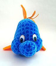 "Bright Blue Fish Flounder Stuffed Plush Animal Sea Life Ocean 12"""