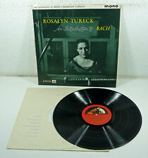 "UK gold/red HMV ALP 1747 LP - ROSALYN TURECK ""An Introducing to Bach"" piano MONO"
