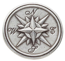 """Danforth Pewter 7/8"""" Round Shank Style Compass Rose Design Buttons - Set of 2"""