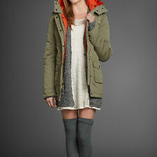NWT Abercrombie Fitch Women's Parka Jacket Coat Outwear, Olive  Color .Size M
