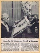 COUPURE DE PRESSE CLIPPING 1953 PAUL CLAUDEL     (1 page)
