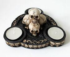Schädel 3er Teelichthalter Scull Totenkopf Gothic Teelichter