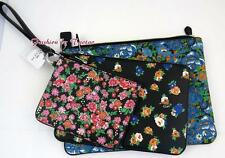 New w Tag COACH F 57598 POUCH TRIO FLORAL PRINTED COATED CANVAS 3 PC BAG