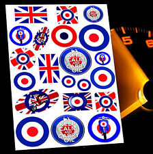 21 X MOD TARGET AUTO AUFKLEBER STICKERS LOGO SCOOTER MOTORRAD ROLLER VESPA MO