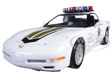 CHEVROLET CORVETTE C5 ZO6 POLICE 1:18 DIECAST MODEL CAR BY MAISTO 31383