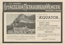 Z1091 Radiatori AEQUATOR - Albergo S. Martino Castrozza - Pubblicità - 1934 Ad