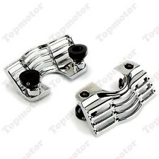 Chrome Finned Spark Slotted Plug Head Bolt Covers For Harley Trikes Road King