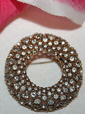 CINER SIGNED GOLD TONE RHINESTONE PIN - STUNNING AND BEAUTIFUL
