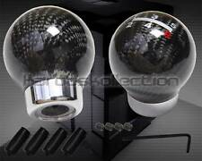 REAL CARBON FIBER ROUND BALL 5 SPEED SHIFT KNOB MAZDA 3 6 RX7 MIATA PROTEGE